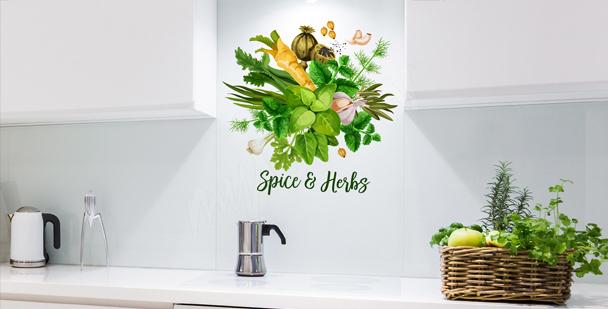Typografischer Sticker für die Küche