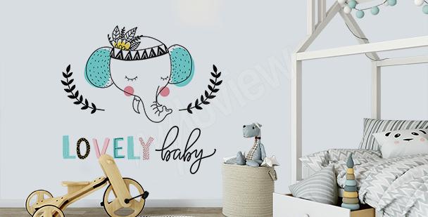 Typografischer Sticker für ein Kind