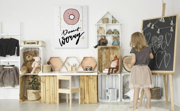 Typografisches Bild fürs Mädchenzimmer