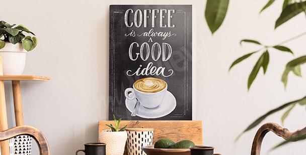 Typografisches Bild Kaffee