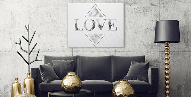 """Typografisches Bild """"Love"""""""