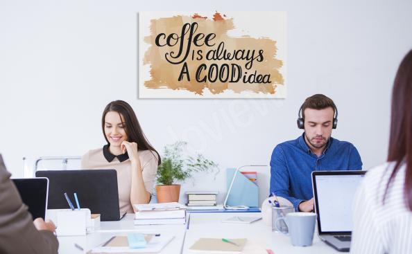Typografisches Bild mit Kaffeemotiv