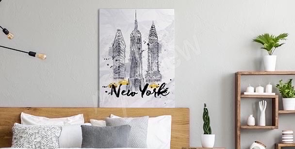 Typografisches Bild New York City