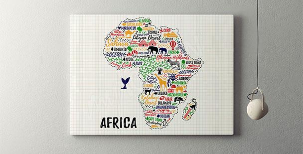 Typografisches Poster Afrika