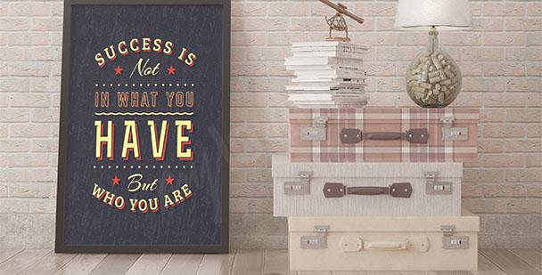 Typografisches Poster Erfolg