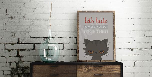 Typografisches Poster - Katze