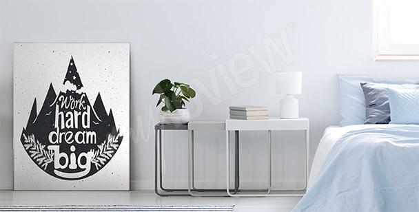 Poster inspiriert mit Weltall
