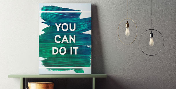 Typografisches Poster Motivation