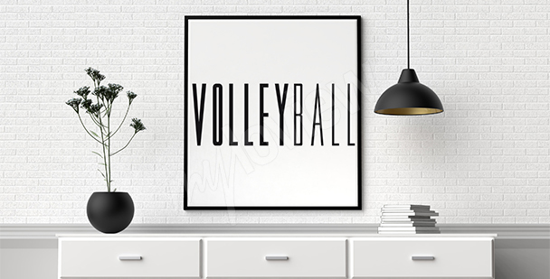 Typografisches Poster Volleyball