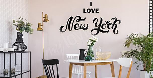 Typographischer Sticker New York City