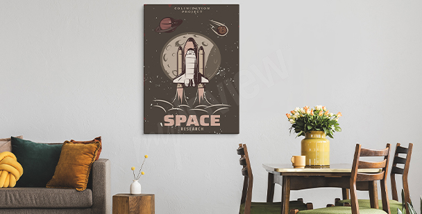 Vintage-Bild mit kosmischem Motiv