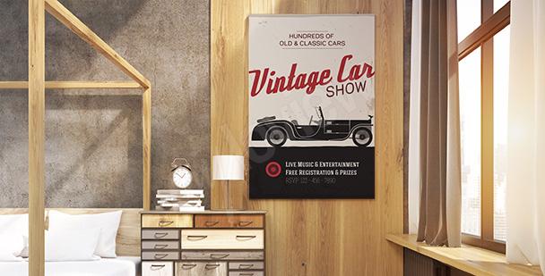 Vintage-Poster Oldtimerausstellung