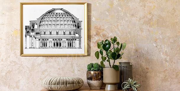Vintage Poster vom Pantheon