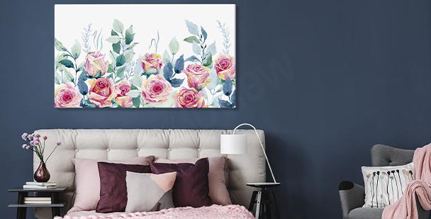 Wandbild mit Rosen