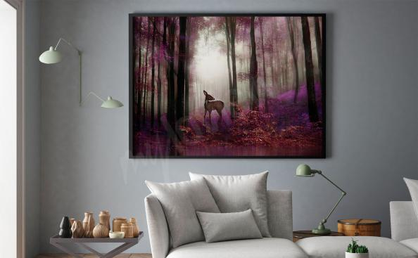 Wandposter Wald Fantasy