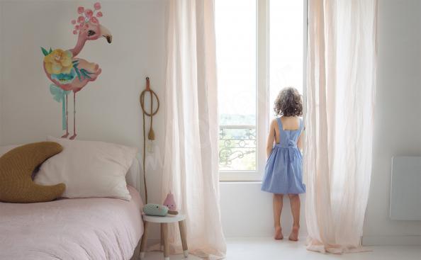 Wandsticker für Mädchenzimmer Flamingo