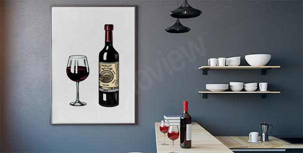 Wein im Glas Poster