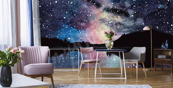 Weltraum-Fototapete fürs Wohnzimmer