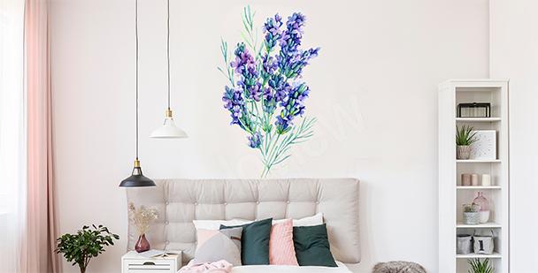 Zarter Sticker mit Lavendelstrauß