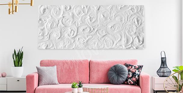 Zartes Bild weiße Rosen