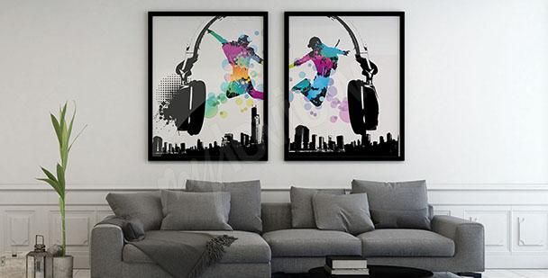 Zweiteiliges musisches Poster